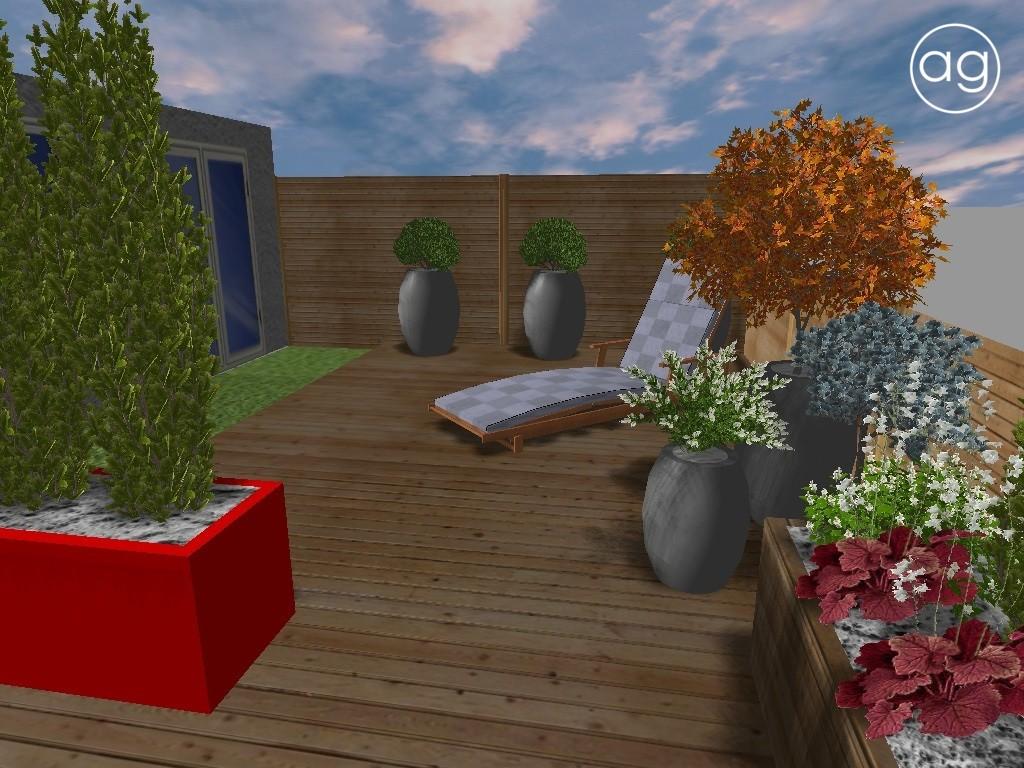 projekt tarasu, taras wSuchym Lesie, projektowanie ogrodów, aranżacja balkonu, agnieszkagertnerblog, Agnieszka Gertner, wizualizacja