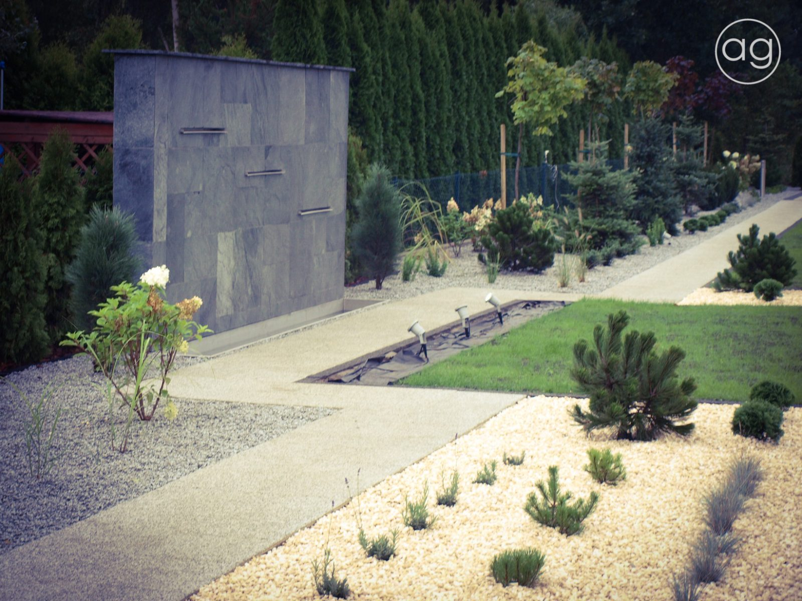 projektowanie ogrodów, projekt, ogrody, architektura krajobrazu, architektura, krajobraz, blog, przyroda, rośliny, natura, agnieszka gertner, architecture, gardens, landscape, design, ściana wodna, woda,oczko wodne