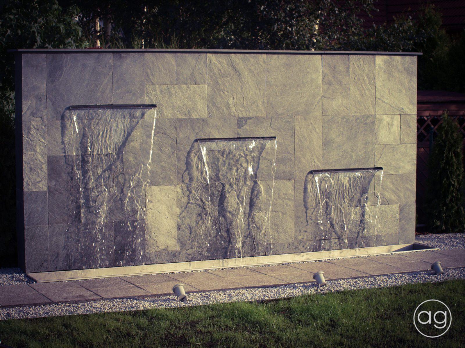 ściana wodna wogrodzie, kaskada, agnieszkagertnerblog, Agnieszka Gertner, projektowanie ogrodów